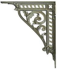 "Pair 30cm 12"" Large Iron Victorian Trellis Wall Shelf Antique Cistern Brackets"
