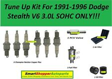 Tune Up Kit For 1991-1996 Dodge Stealth Air Filter, Oil Fuel Filter, Spark Plug