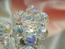 Super Cute Vintage 1950's Aurora Crystal Earrings  1852je