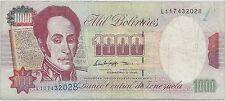 VENEZUELA - 1 000 BOLIVARES - 5.2.1998 - BILLET DE BANQUE // Qualité: TTB