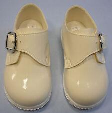 Childrens Baby Boys Black Shoes Shoe Buckle Wedding Christening Kids Smart