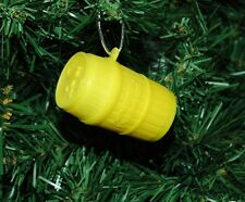 Monkeys In A Yellow Barrell Christmas Ornament