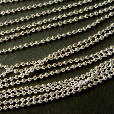 10m SILVER PLATED BALL CHAINS FINDINGS 1.5mm  - LEAD & NICKEL FREE