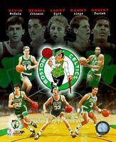 Boston Celtics Larry Bird Kevin McHale D. Ainge R. Parish D. Johnson 8x10 Photo