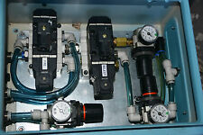 Pneumatic control box 2 large 24v SMC 5 port 5/2 valve valves 3x air regulator