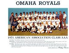1971 OMAHA ROYALS 8X10 TEAM PHOTO NEBRASKA  AAA  BASEBALL USA