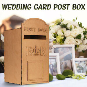 3mm MDF Wooeden Wedding Card Letters Post Box Wishing Well Message Card +