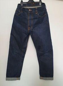 Nudie Steady Eddie Jeans (original) - 34 waist / 32 leg. Dry Indigo.