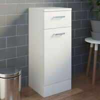 Bathroom Laundry Unit Cabinet White Gloss Soft Close Door Modern Furniture MDF