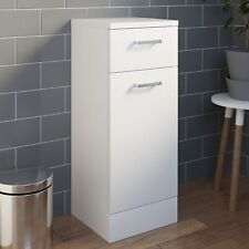 Bathroom Laundry Unit Cabinet White Gloss Soft Close Door Modern Furniture MDF