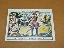CHROMO #60 CAVELIER DE LA SALLE USA CHOCOLAT PUPIER AMERIQUE NORD 1952