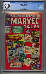 MARVEL TALES #9 CGC 9.0 SPIDER-MAN WHITE PAGES