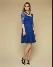 BNWT 👗Monsoon 👗  14(UK) Amelia Blue LACE COCKTAIL DRESS Prom, skater, EVE