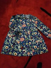 NWT girls spring floral dress above the knee blue size 8