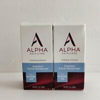 Alpha Skin Care Essential Facial Moisturizer Hyaluronic Acid 2 oz. PACK OF 2