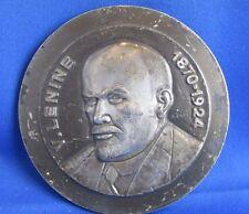 ancien grosse medaille bronze argenté lenine  bloc 89/500 urss communisme 5