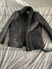 mens faux leather biker jacket