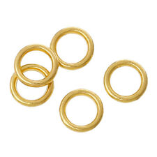 50/100/200pcs 6mm gold plated SOLDERED CLOSED jump rings jewellery findings