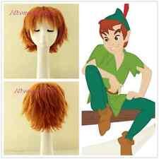 Peter Pan short orange Cosplay Wig +free wig cap