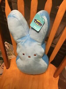 """Blue Marshmallow Peeps Bunny Pillow, Brand New with Tag, 16"""" x 8"""""""