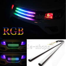 "24"" 7 Color RGB LED Knight Rider Strip Light Under Hood Behind Grille For VW"
