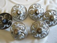 "1"" VINTAGE INSPIRED Buttons (6 pc)  **WASHED BRONZE* Single Shank"
