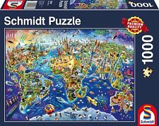 Discover the World: Schmidt Premium Quality Jigsaw Puzzle 1000 pieces 58288
