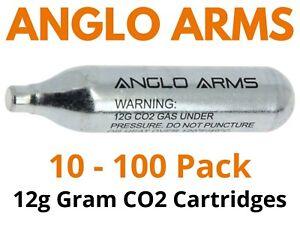12g CO2 STANDARD SIZE PREMIUM Gas Capsules Cartridges FOR Airsoft bbs AirGuns