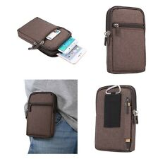 for PHILIPS XENIUM V787 Brown Pouch Bag Case Universal Multi-functional