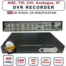 8 Channel 5in1 1080P 8 Audio CCTV Security DVR Video Recorder H.264 Viper Pro UK