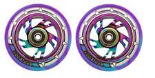 Team Dogz Rainbow Neo Chrome 110mm Scooter Alloy Wheel Mixed 88A PU Purple Blue