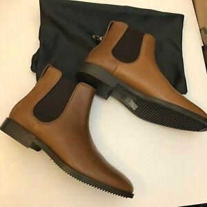 NEW COACH Claremont Chelsea Cognac Leather Shoes Ankle Boots G1069 Men's 10D