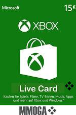 Microsoft Xbox Live 15 Euro Card MS Xbox 360 & One Live 15€ Guthaben Karte [EU]*
