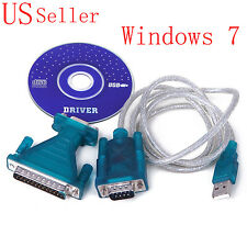 USB 2.0 to RS232 Serial DB9 9Pin Male Adapter Cable VGA PC Cellular Phone Win XP