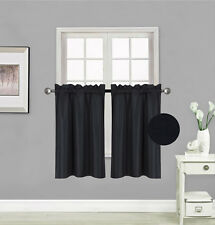 "1 Curtain Panel Rod Pocket Faux Silk Window Blackout Light Blocker 30""x36"" RS5"