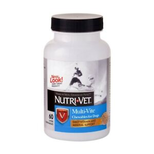 Nutri-Vet Multi-Vite Daily Vitamins Liver Chewables for Dogs 60 count