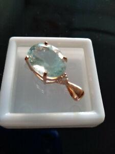 Exquisite Aquamarine & White Topaz in Rose Gold