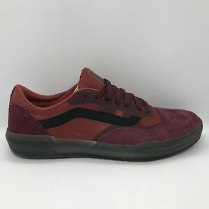 VANS Ave Pro Skate Shoes, Mens US Size 10.5 Port Royale / Rosewood   VN0A4BT7W4Q