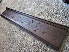 EASTLAKE Spoon Carved Furniture Pediment Walnut? Victorian Header Cabinet Panel