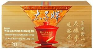 Wild American Ginseng Instant Tea by Prince of Peace, 20 tea bag 1 pack