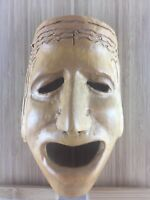 Comedy / Thalia / Muse Theater and Drama Hand carved Wooden Mask / wall decor