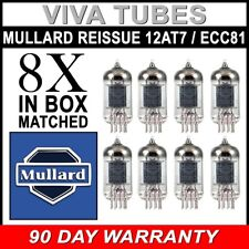 Mullard Reissue 12AT7 ECC81 Gain Matched Octet (8) Brand New Vacuum Tubes