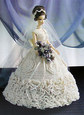 Crochet Pattern Only ~ Barbie's Elegant Bride ~ Bridal Gown Ensemble