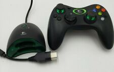Logitech Cordless Precision Controller & Adapter for Microsoft Xbox Used Works