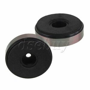10pcs Amplifier DAC Speaker CD Player Feet Stand Pad 40mm x 10mm Mounted Hole