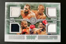Mike Tyson Buster Douglas Bowe  FIGHT WORN Boxing Card Ringside Round 2 D-07
