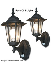 Pack Of 2 Outdoor Wall Mount Lighting Systems With Infrared IR Motion Sensors