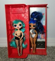 LOL Surprise! Lot of 2: OMG Winter Disco Cosmic Nova and Downtown Doll plus case