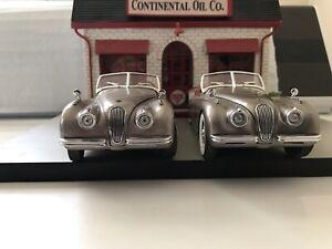 Danbury Mint 1949 Jaguar X120 1:24 TWO Original Sand Reissue Silver