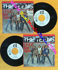 LP 45 7'' THE TEENS 1 2 3 4 red light Baby blue 1979 italy PROMO no cd mc dvd